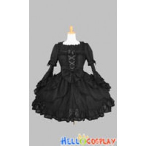 Sweet Lolita Gothic Punk Classical Victorian Black Dress