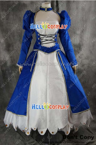 Fate Stay Night Fate Zero Cosplay Saber Dress Costume