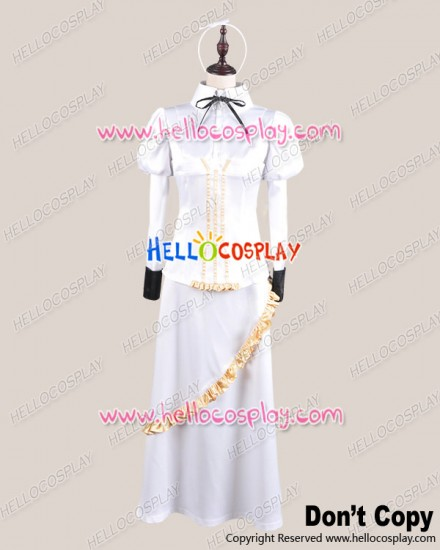 Clock Zero Shuuen No Ichibyou Cosplay 10 Years Later Kurou Nadeshiko White Costume
