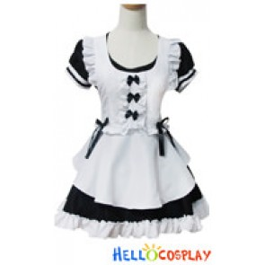Angel Feather Cosplay Fantasy Sweet Black Maid Dress