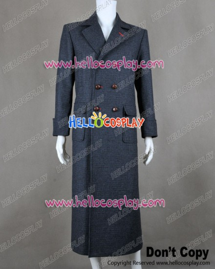 Sherlock Holmes Cosplay Cape Trench Coat Costume Wool Version