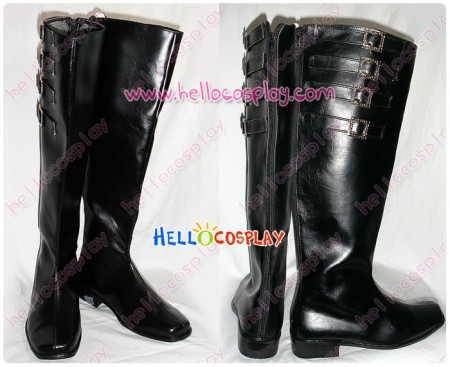Devil May Cry 2 Cosplay Dante Boots Black Long