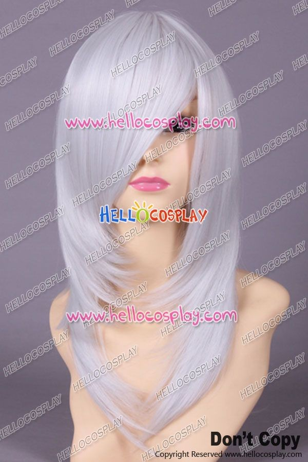 Silver White Cosplay Wavy Wig