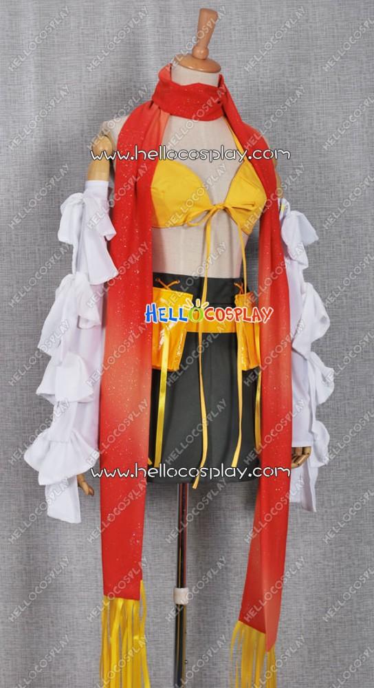 Final Fantasy X Rikku cosplay costume custom made