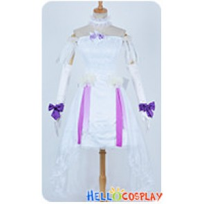 Vocaloid 2 Cosplay Day Hatsune Miku Sapporo Concert White Formal Dress Costume