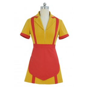 2 Broke Girls Max Black Caroline Wesbox Channing Uniform Cosplay Costume Dress
