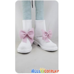 AKB0048 Cosplay Sonata Shinonome Short White Boots