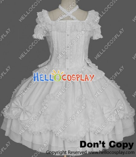 Sweet Lolita Gothic Punk Victorian White Dress