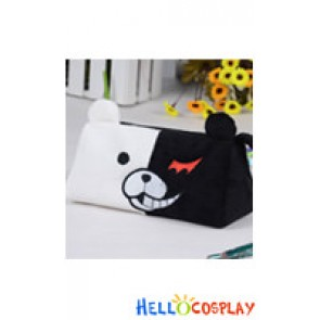 Danganronpa Dangan Ronpa Cosplay Black White Bear Schoolmaster Pencil Bag Type A