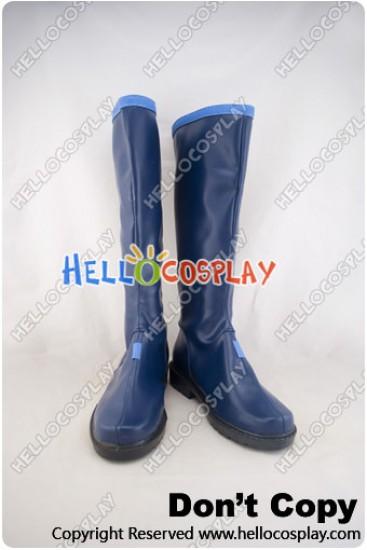 Vocaloid 3 Cosplay Kaito Dark Blue Boots