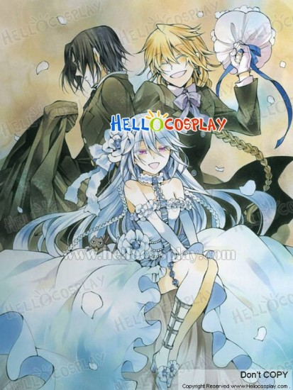 Pandora Hearts Cosplay White Rabbit Will of the Abyss Wig