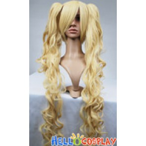 Vocaloid 2 Cosplay Hatsune Miku Yellow Curly Wig