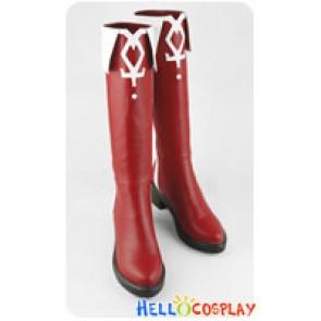 Puella Magi Madoka Magica Cosplay Kyoko Sakura Red Boots