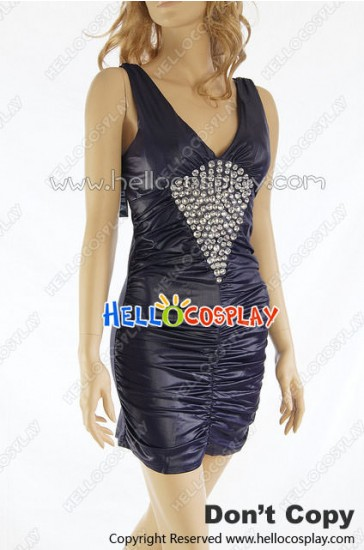 Party Cosplay Purple Sexy Cocktail Tight Dress Costume