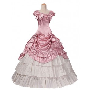 Victorian Lolita Southern Civil War Reenactment Gothic Lolita Dress Pink