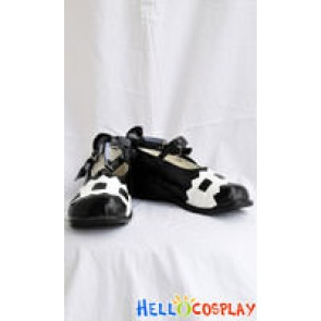 White Black Lolita Shoes BJD Style