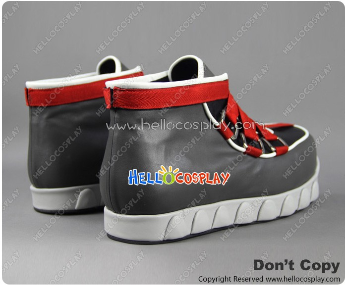 Details about  /Kingdom Hearts ROXAS Costume Shoes Made Green Red Lace Platform Cosplay Boots:d