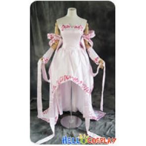 Gundam Seed Cosplay Lacus Clyne Pink Dress Costume