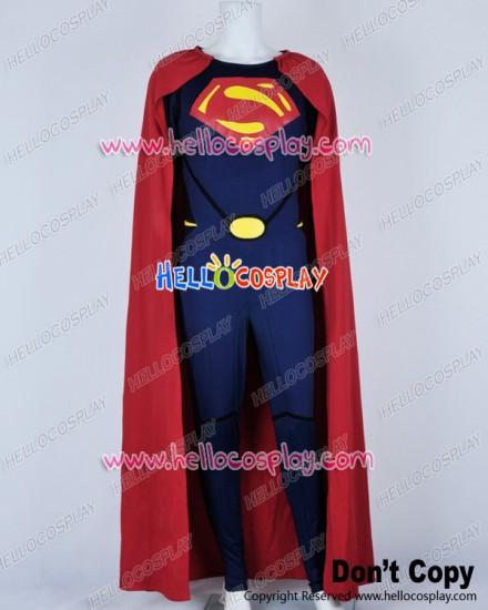 Superman Man Of Steel Cark Kent Jumpsuit Cosplay Costume