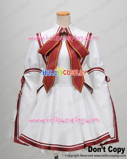 Rewrite Cosplay Akane Senri School Girl Uniform Dress Costume