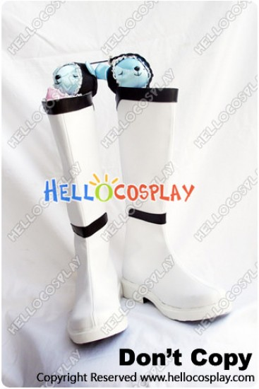Touhou Project Cosplay Shoes Rinnosuke Morichika Boots White