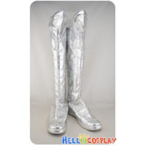 X-men Gambit Cosplay Boots Long Silver