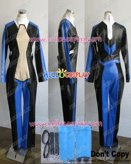 Macross Frontier Cosplay Brera Sterne Black Blue Jumpsuit Costume