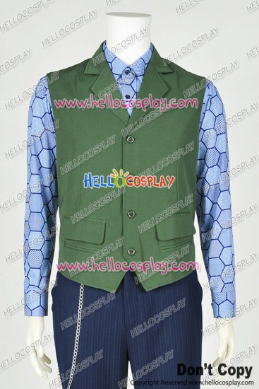 Batman The Joker Cosplay Costume Vest Hexagon Shirt