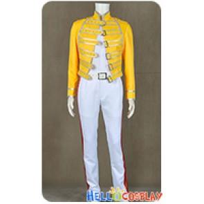 Queen Band Lead Vocals Freddie Mercury Cosplay Costume Wembley Stadium