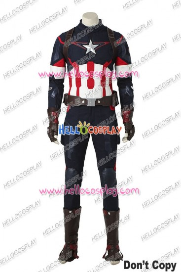 Avengers Age Of Ultron Cosplay Captain America Costume Uniform