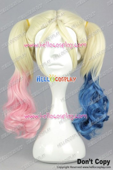 Suicide Squad Harley Quinn Cosplay Wig Ponytails