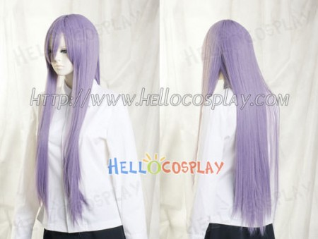 Medium Purple Medium Cosplay Straight Wig