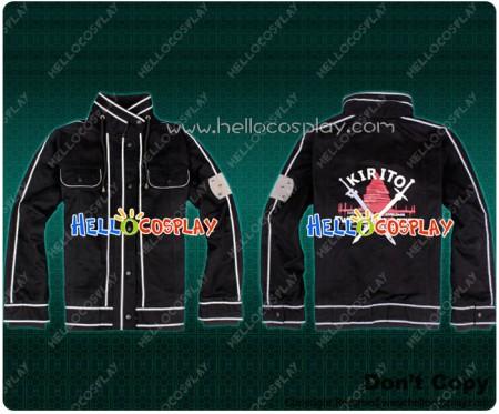 Sword Art Online Cosplay Kirito Kazuto Kirigaya Daily Jacket Coat Costume Size S
