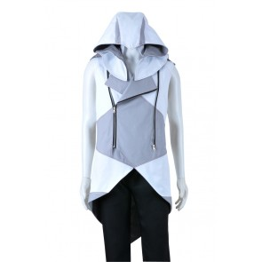 Assassins Creed III Cosplay Connor Costume Gray White Jacket Hoodie