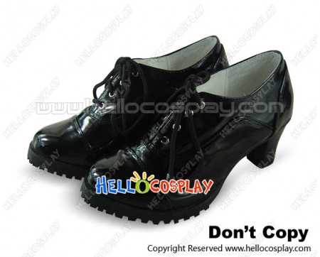 Black Butler Cosplay Shoes Grell Sutcliff Black Shoes