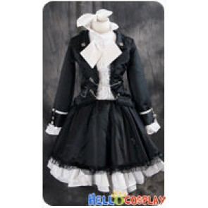 Vocaloid 2 Cosplay Secret Police Kagamine Rin Black Costume