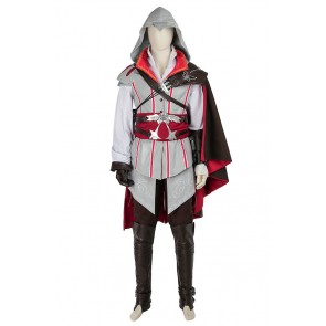 Assassin's Creed II Ezio Auditore da Firenze Cosplay Costume White