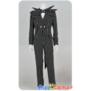 The Nightmare Before Christmas Cosplay Jack Skellington Black Stripe Suit Costume
