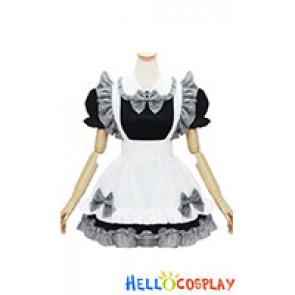 Princess Cosplay Lovely Lattice Maid Dress