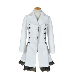 RWBY Season 2 Weiss Schnee White Trailer Cosplay Costume White Coat
