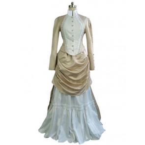 Victorian Lolita French Bustle Formal Gothic Lolita Dress Beige