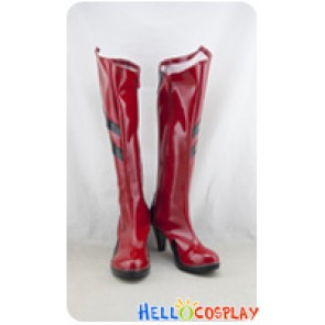 Neon Genesis Evangelion EVA Cosplay Shoes Asuka Langley Soryu Boots Red