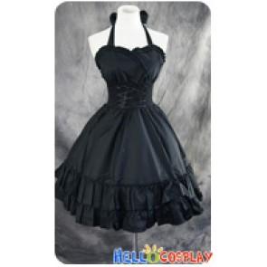 Gothic Lolita Dress Cosplay Costume Cute Black
