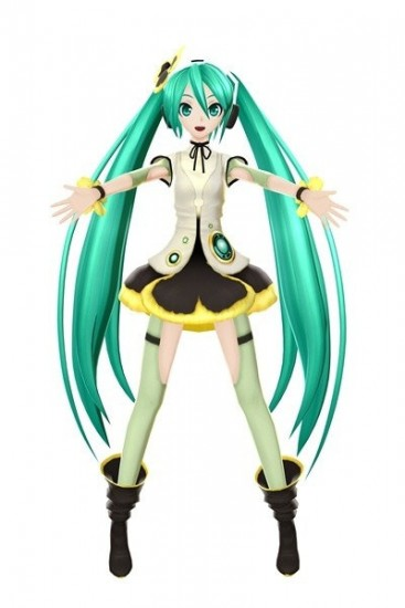 Vocaloid 2 Cosplay DIVA F Miku Flower Uniform Costume