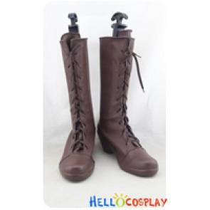 Rewrite Cosplay Shoes Kotori Kanbe Brown Boots
