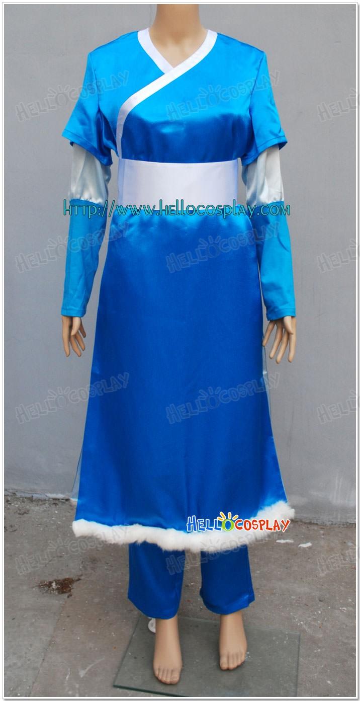 & Avatar : The Last Airbender Katara Cosplay Costume