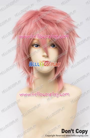 Blue Exorcist Cosplay Renzo Shima Wig Fairy Tail Natsu Wig 30CM Smoke Pink Universal Layered Short