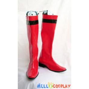 Tokusou Sentai Dekaranger Cosplay Red Long Boots