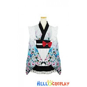 Lolita Cosplay Floral Kimono Maid Dress