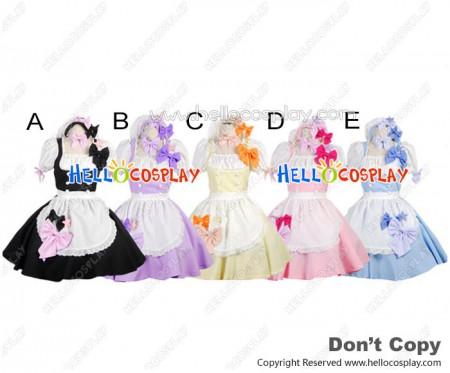 Cute Princess Sleeves Bow Knots Stars Cosplay Maid Dress Costume